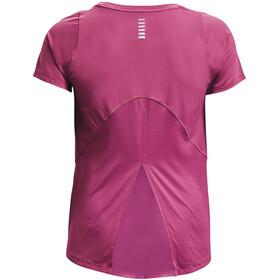 Under Armour Isochill Run 200 Short Sleeve Shirt Women, fioletowy